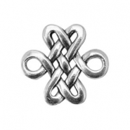 Basic Quality metal charms baroque 18x17mmAntique Silver
