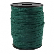 Round trendy 4 mm paracord Dark emerald green