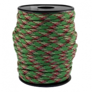 Round trendy 4 mm paracord green-aubergine black