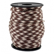Round trendy 4 mm paracord Beige-warm brown