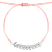 Trendy bracelets Rose peach-Silver