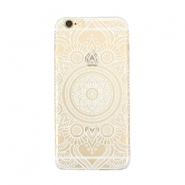 Telephonecase mandala for Iphone 5 Transparent - white