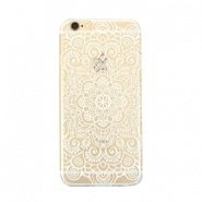 Telephonecase mandala for Iphone 6 Plus Transparent - white