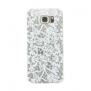 Telephonecase lace for Samsung Galaxy S6 Transparent - white
