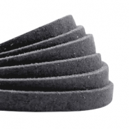 Flat DQ leather 5mm Anthracite black