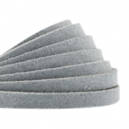 Flat DQ leather 5mm Grey