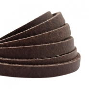 Flat DQ leather 5mm Dark brown