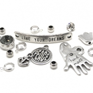 DQ European metal beads and charms DQ European metal beads silver