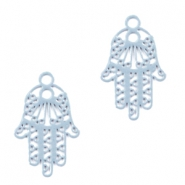 Bohemian pendants Hamsa hand with eye Cloud Blue