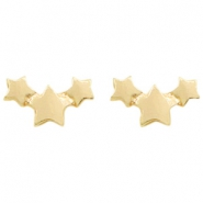 Trendy earrings stars Gold