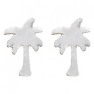 Trendy earrings palmtree Silver