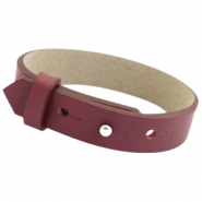 Cuoio bracelets leather 15mm for 20m cabochon Aubergine port red