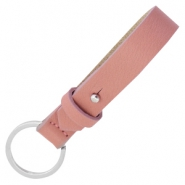 Cuoio keychains leather 15mm for 20mm cabochon Dark vintage pink