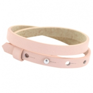 Cuoio bracelets double leather 8mm for 12mm cabochon Powder rose