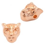 DQ metal beads leopard head 10x9mm Rose gold (nickel free)