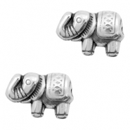 DQ metal beads elephant 13x9mm Antique silver (nickel free)