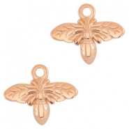 DQ metal charms bee Rose gold (nickel free)