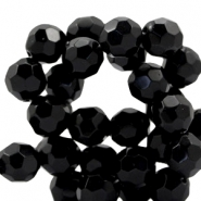 Czech faceted beads 12mm Jet black
