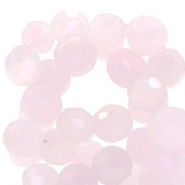 Czech faceted beads 10mm Rose alabaster