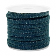 Trendy flat denim cord 5mm Dark royal blue