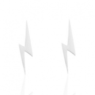 Stainless Steel earrings lightning Silver