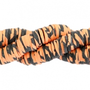 Katsuki beads animal print 4mm Orange-black
