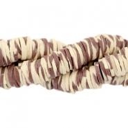 Katsuki beads animal print 6mm Brown-beige