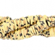 Katsuki beads animal print 4mm Yellow-brown-black