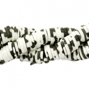 Katsuki beads animal print 3mm Black-off white
