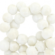 8mm marbled glass beads White-light beige