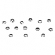 Stainless steel findings crimp bead 2.5mm Silver