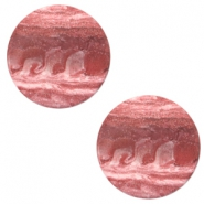 12mm flat Polaris Elements cabochon stone look Soft cashmere rose