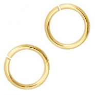 6mm DQ jumpring DQ Gold durable plating