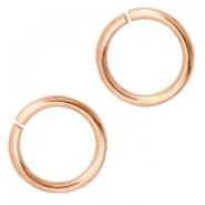 6mm DQ jumpring DQ Rose Gold durable plating