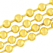 DQ ball chain 3mm DQ Gold durable plated