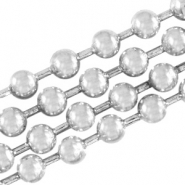 DQ ball chain 3mm DQ Antique silver durable plated
