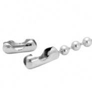 DQ ball chain clasp for 1.2mm chain DQ Antique Silver durable plating