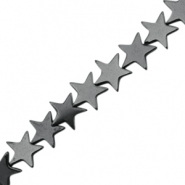 Hematite beads star 6mm Anthracite grey