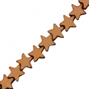 Hematite beads star 4mm Rose gold