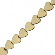 Hematite beads heart 4mm Antique gold