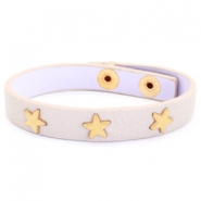 Trendy bracelets with studs gold star Vintage pink