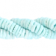 Shell beads disc 4mm Pastel turquoise green