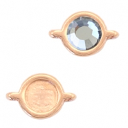 Round DQ metal settings 2 loops for SS20 flatback stone Rose gold (nickel free)