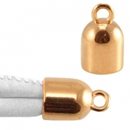 DQ metal end cap with loop Rose gold (nickel free)