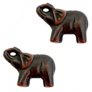 DQ acrylic beads elephant Black-brown