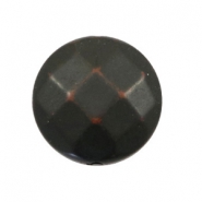 Flat DQ acrylic beads 24mm round faceted Dark-brown black
