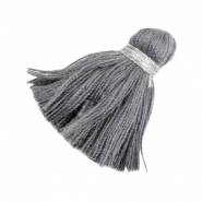 Ibiza style tassels 3.6cm Silver-antharcite