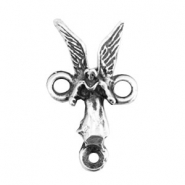 TQ metal charms connector angel women Antique silver