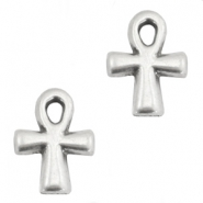 TQ metal charms Ankh-cross Antique silver