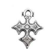TQ metal charms Celtic cross Antique silver